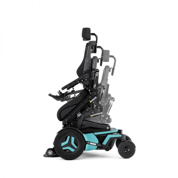 Permobil F5 in active reach position