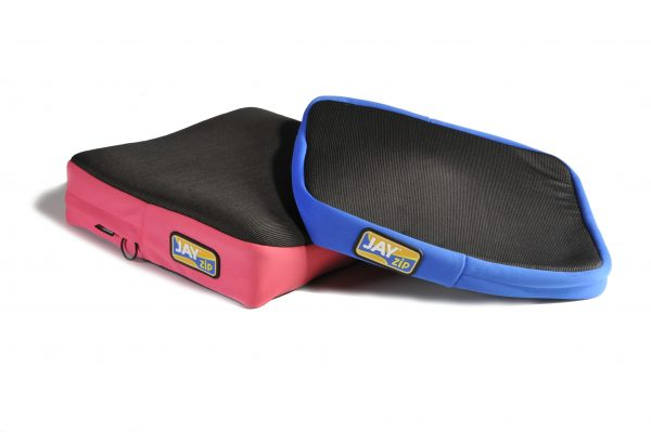 Jay Zip cushion in blue and pink
