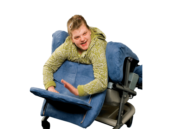 Symmetrikit chair in prone position