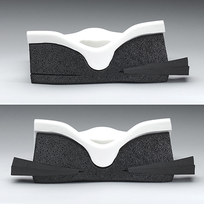 Ride Java Cushion showing CAM wedges
