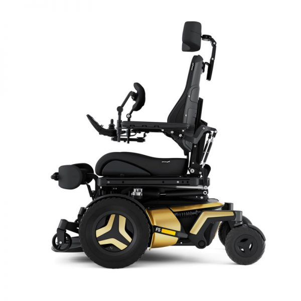 Permobil F5 VS power wheelchair - side view