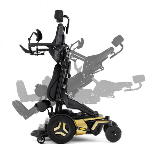 Permobil F5 VS power wheelchair in standing position
