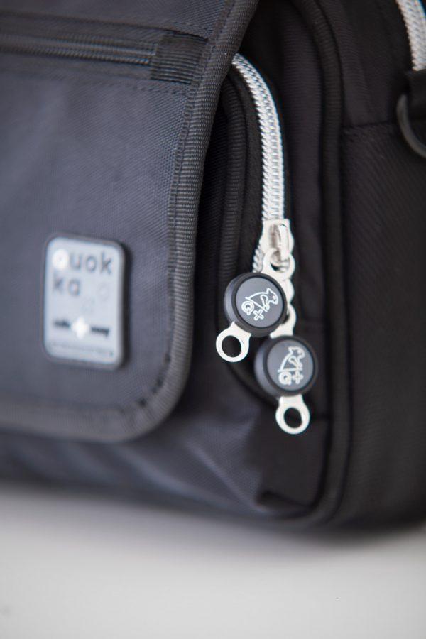 Quokka horizontal bag - black - close up