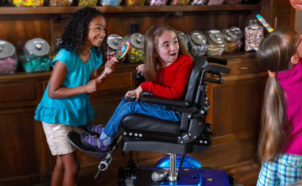 Child using M300 PS Jr wheelchair