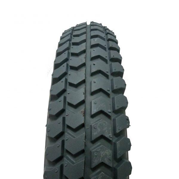 """Pneumatic 14"""" tyre - grey - close up"""