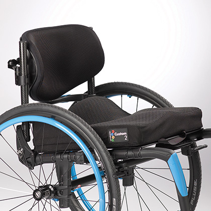 Ride Designs Custom 2 cushion on wheelchair