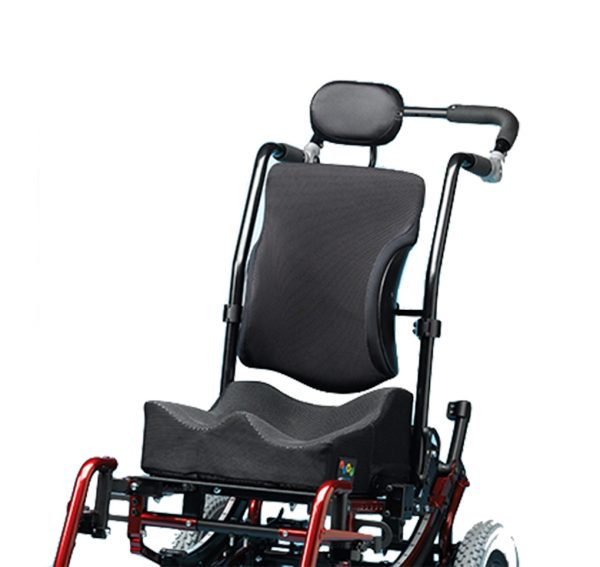 Ride Designs custom seating on wheelchair