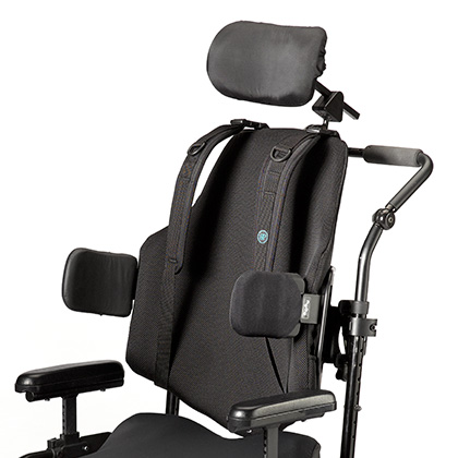 Ride Java backrest with lateral supports - front view
