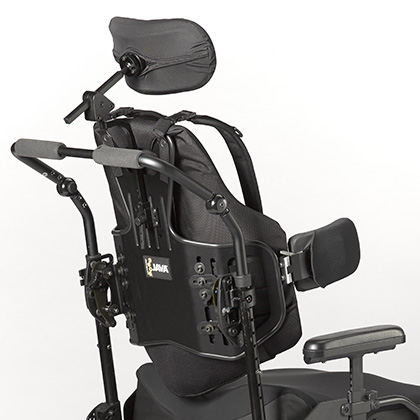 Ride Java backrest with lateral supports