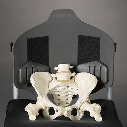 Ride Java backrest with pelvis postition
