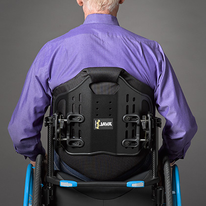 Ride Java backrest in tall height