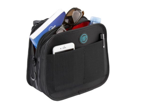 Bodypoint mobility bag with items in it