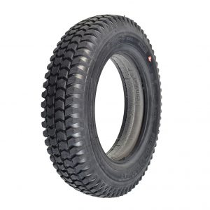 Solid black tyre