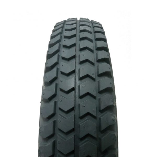 Solid grey tyre - close up
