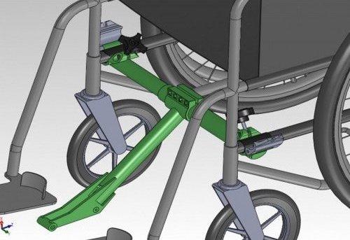 Freewheel folding adaptor fitting diagram