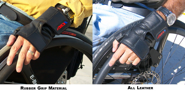 Comparison between ADI full leather and rubber grip gloves