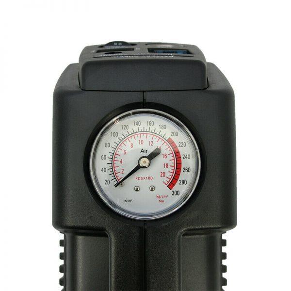 Top view of portable compressor