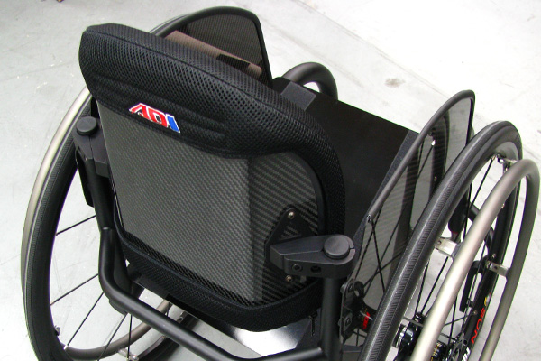 Stealth ADI Carbon backrest on wheelchair