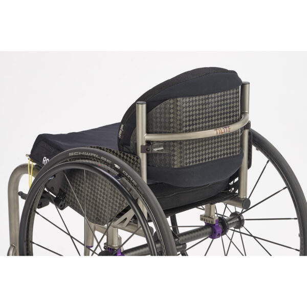 Roho Agility Carbon back support on wheelchair