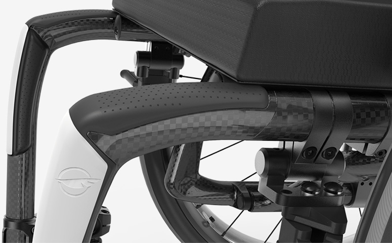 Manual wheelchair frame