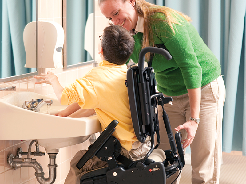 Rifton Activity Chair - easy adjustments